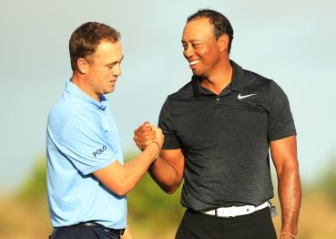 Tiger Woods a Justin Thomas