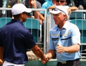 Greg Norman a Tiger Woods