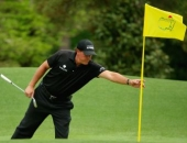 Phil Mickelson a vlajka na Masters