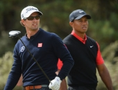 Adam Scott a Tiger Woods