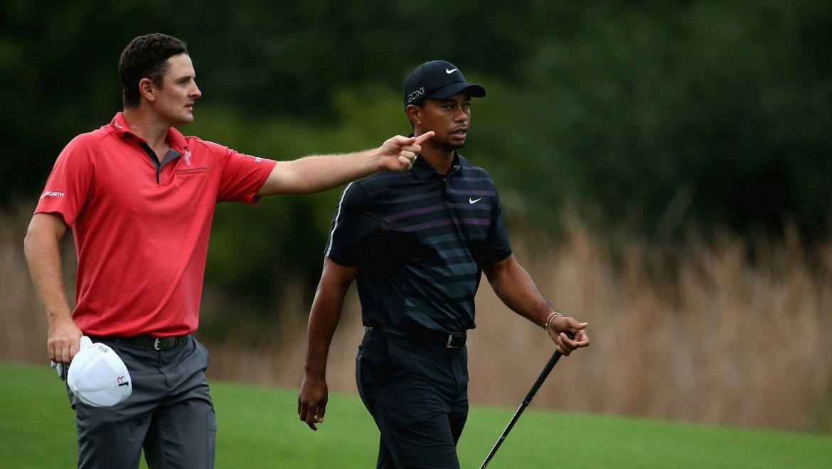 Justin Rose a Tiger Woods