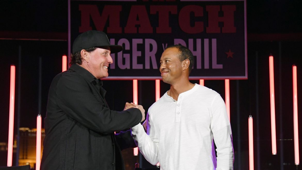 Phil Mickelson a Tiger Woods