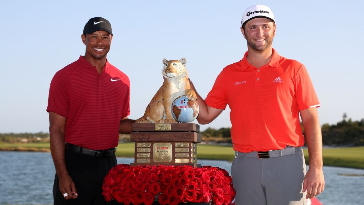 Jon Rahm a Tiger Woods
