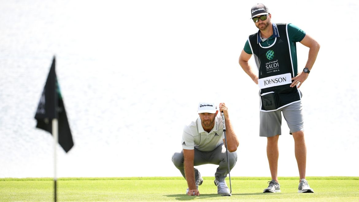 Dustin Johnson a kedík
