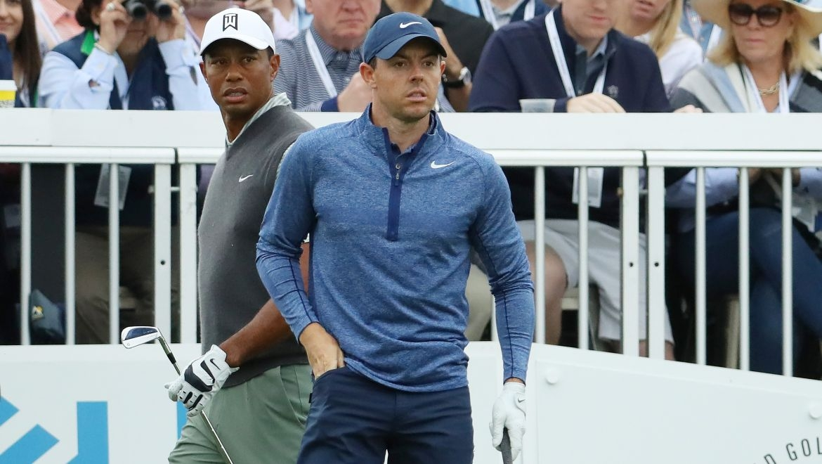 Tiger Woods a Rory McIlroy