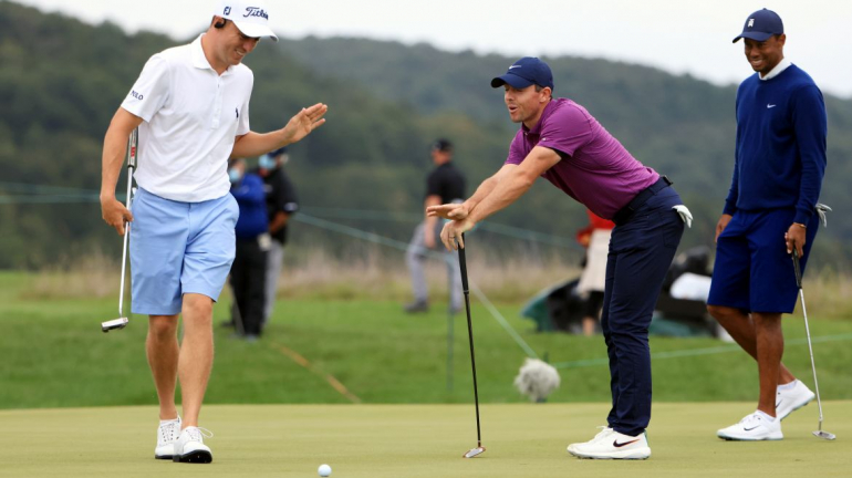Justin Thomas, Rory McIlroy a Tiger Woods