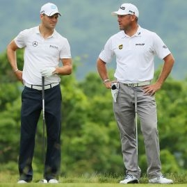 Martin Kaymer a Lee Westwood