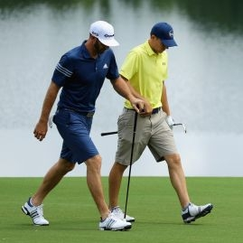 Dustin Johnson a Jordan Spieth