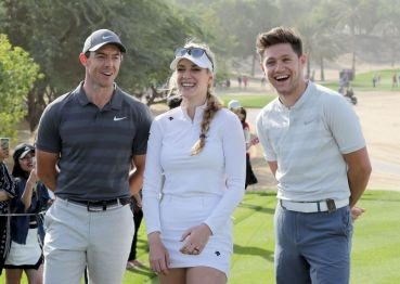 Rory McIlroy, Paige Spiranac a Niall Horan